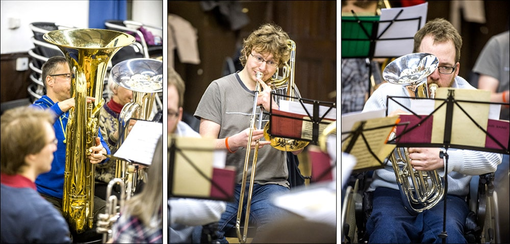 edinburgh brass band rehearsal